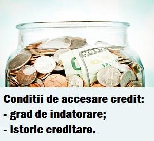 Conditii de acordare a unui credit