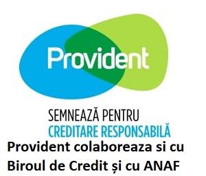 provident colaborareaza cu anaf si bioul de credit
