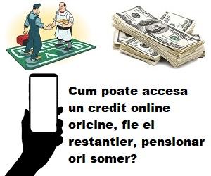 cum poate o persoana accesa un credit pe internet